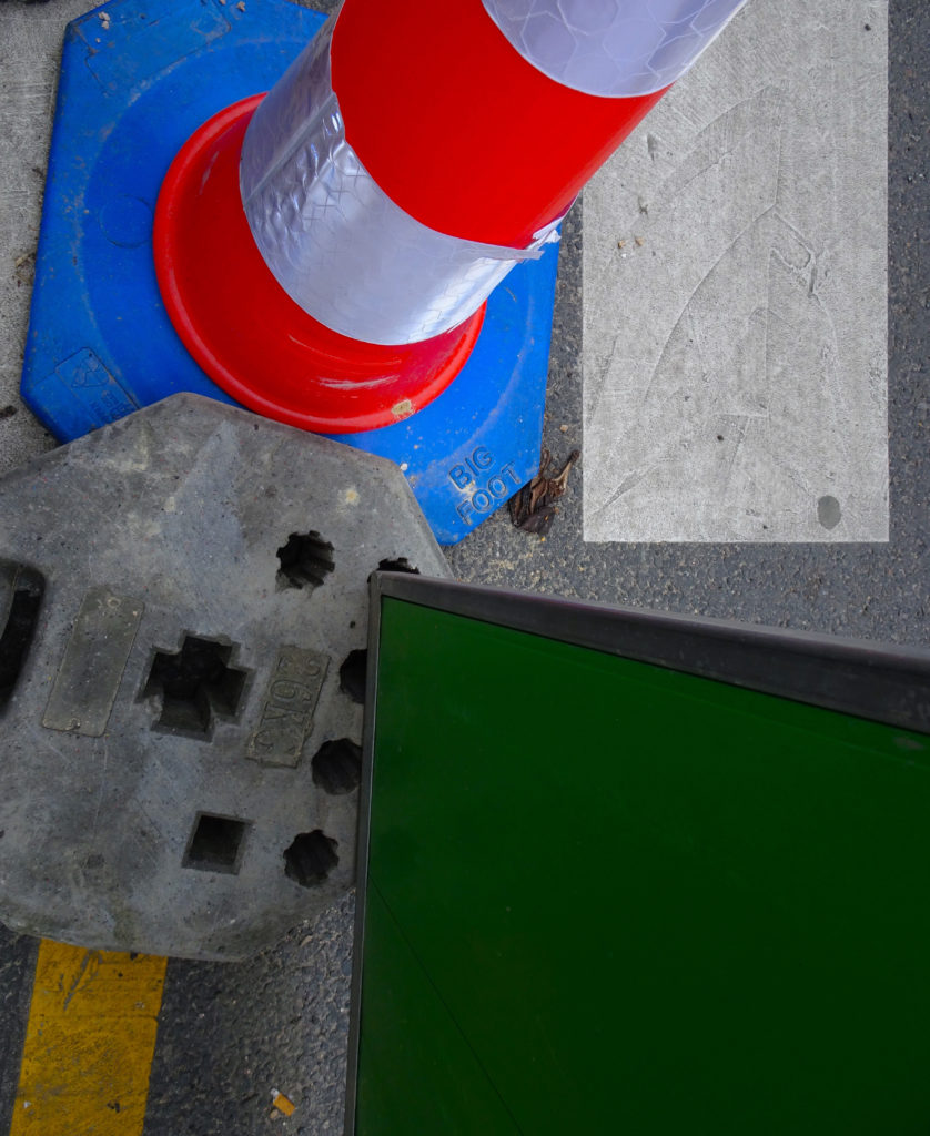 abstract cone and street